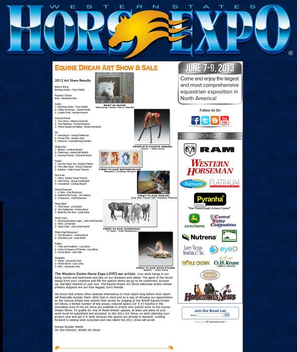 2012 Equine Dream Art Show
